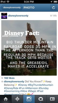 Disney fact, now I know when to ride this...