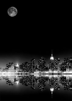 NYC: Moon Over Manhattan - great animated gif