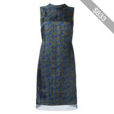 Maison Margiela organza layered leaf print dress
