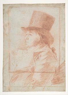 Self-Portrait  Goya (Francisco de Goya y Lucientes) (Spanish, Fuendetodos 1746–1828 Bordeaux)  Date: ca. 1797–98 Medium: Red chalk Dimensions: 7-7/8 x 5-5/8 in. (20.0 x 14.3 cm) Classification: Drawings