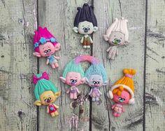 Trolls Polymer handmade Clay - Poppy Clay - Dj Trolls