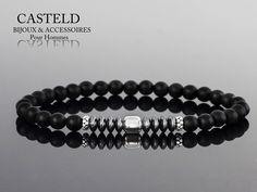 Le Bracelet Homme Gab de CASTELD s'impose déja comme une référence. #braceletperles #tendance #lifestyle #homme #créateur #luxe #casteld