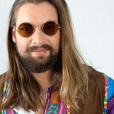 """Image from """"115 years of men's looks"""". 1960s, stone hippie man. Watch our video at https://youtu.be/uRfa8y0oEko"""