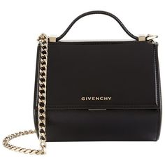 Givenchy Mini Pandora Patent Leather Bag ($1,830) ❤ liked on Polyvore featuring bags, handbags, shoulder bags, givenchy purse, mini purse, special occasion handbags, locking purse and shoulder strap bags