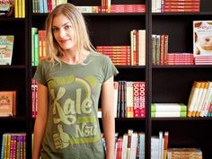 Women's Only Kale Can Save Us Now Tee. $30.00. This green will send you reeling with joy, and eating kale can help save your health. This shirt is 70% viscose from organic bamboo and 30% organic cotton. It is softer than any clothing in your closet, we promise. We are in love with this shirt.