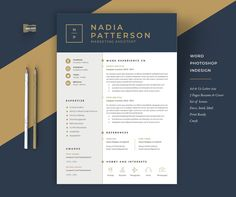 Clean, Modern and Professional Resume and Letterhead design. Fully customizable easy to use and replace color & text. Give an employer a great first impression and help you land your dream job. Graphic Design Blog, Cv Design, Modern Design, Modern Resume Template, Creative Resume Templates, Design Templates, Text Layout, Cv Inspiration, Letterhead Design Inspiration