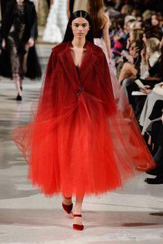 Oscar de la Renta Autumn/Winter New York, Womenswear. Style Haute Couture, Ski Wear, New York, Catwalk, High Fashion, Fall Winter, Autumn, Fur Coat, Tulle