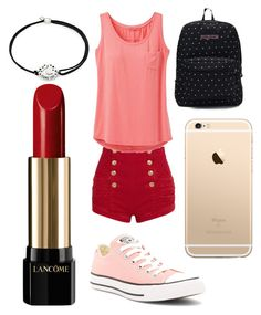 """Spring!!! #1"" by sydnaiqueenz on Polyvore featuring Pierre Balmain, prAna, Converse, JanSport, Alex and Ani and Lancôme"