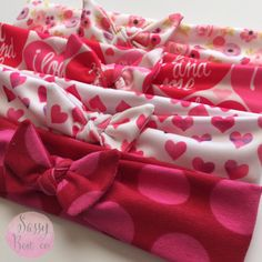 NEW Valentine's Day top knots! Gorgeous patterns available in all sizes! The perfect gift for your sweetheart!