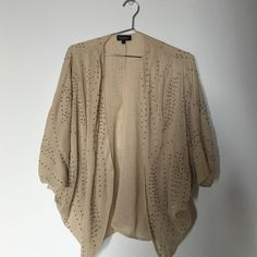 Topshop fancy bohemian shrug. Nude shaw with sequin effect. Topshop Sweaters Shrugs & Ponchos