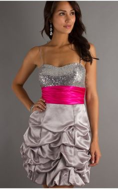 Affordable Ball Gown Short Spaghetti Straps Multi Colours Taffeta Dress