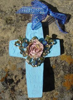 Wall Cross Ornament Jeweled