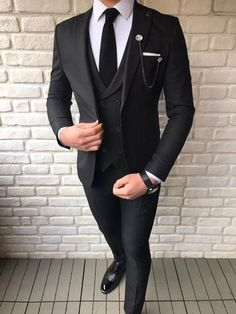 Blazer Outfits Men, Mens Fashion Blazer, Stylish Mens Outfits, Suit Fashion, Fashion Fall, Style Fashion, Best Wedding Suits, Black Suit Wedding, Wedding Dresses Men Indian