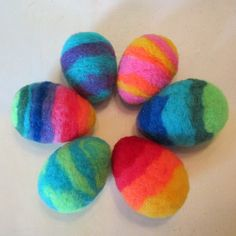 Needle felting - eggs...these might be fun & safe for little kids to play with, or if you have children with egg allergy :)