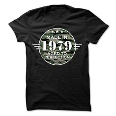 MADE IN 1979 AGED TO PERFECTION ARMY DESIGN T Shirt, Hoodie, Sweatshirt