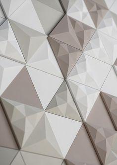 OrigamiTriangleTextureWhiteBeigeGeometrycolor rangetiles