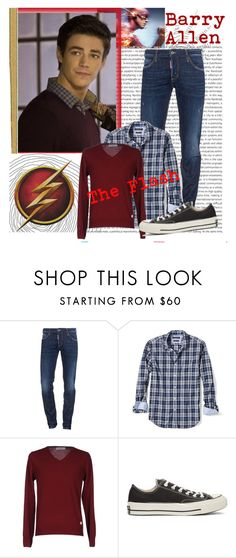 """""""Barry Allen: The Flash"""" by fashion12347 ❤ liked on Polyvore featuring Oris, Dsquared2, Banana Republic, LIU•JO, Converse, men's fashion and menswear"""