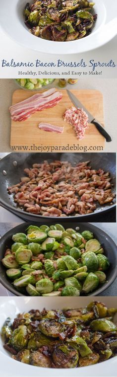 Balsamic Bacon Brussels Sprouts - Easy to make and addictively delicious!