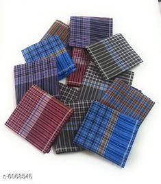 Hankerchiefs Fancy Cotton Hankerchiefs Combo Material: Cotton Pattern: Striped Multipack: 12 Sizes:  Free Size (Length Size: 18 in Width Size: 18 in) Country of Origin: India Sizes Available: Free Size *Proof of Safe Delivery! Click to know on Safety Standards of Delivery Partners- https://ltl.sh/y_nZrAV3  Catalog Rating: ★4 (233)  Catalog Name: Styles Unique Men Handkerchief CatalogID_922014 C65-SC1230 Code: 882-6068546-