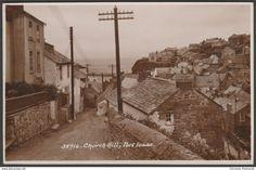 Church Hill, Port Isaac, Cornwall, c.1930 - Sweetman RP Postcard