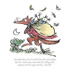 Fantastic Mr Fox Illustration by Quentin Blake