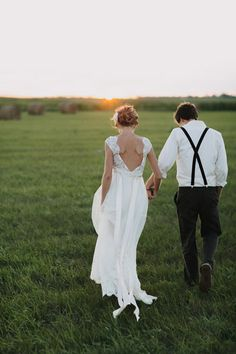 Back views of the most gorgeous wedding attire for bride and groom!