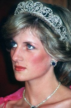 Princess Diana (formerly Lady Diana Spencer) wearing the Spencer Tiara - it's stunning!