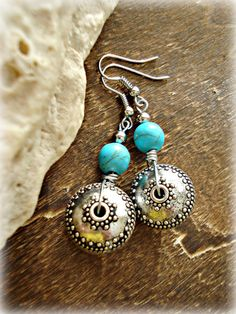 Boho Earrings  Boho Turquoise Jewellery  Hippie by HandcraftedYoga, $23.00