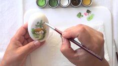 Primeira aula do canal, ensinando a fazer uma pintura de paisagem em sabonete…