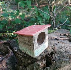 Futterhaus Keramik Vogelfutterhaus Winterfütterung Vogelhäuschen blau
