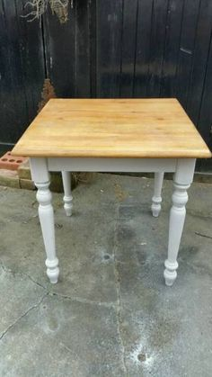 Up cycled farmhouse table painted in Annie Sloane with top coat of farrow & ball. If you need chairs