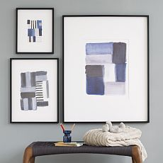 Need to create my own with watercolors.. Brushstroke art.. west elm