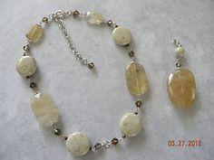 Premier Designs Sand Dune necklace with removable pendant