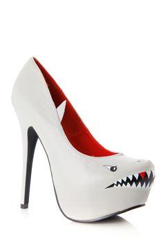 Toothy Shark Pumps