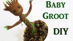 DIY: Como Fazer o Baby Groot do Filme Guardiões da Galáxia | Ideias Pers...
