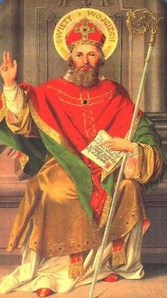 "Adalbert of Prague (sv.Vojtěch, 957) - saint and martyr, a Bishop of Prague and missionary. He evangelized Poles and Hungarians. The patron saint of Czechia, Poland, Hungary and Prussia. Presumably, Adalbert is the author of the first Czech hymn ""Hospodine pomiluj ny"" in the end of 10th century, unique also because it is commonly sung also today. #Czechia #Poland #Hungary"