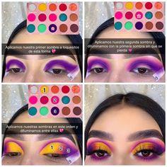 Makeup For Black Skin, Bright Eye Makeup, Colorful Eye Makeup, Simple Eye Makeup, Eye Makeup Steps, Makeup Eye Looks, Eye Makeup Art, Eyeshadow Makeup, Disney Eye Makeup
