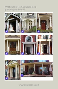 A portico can add so much visual interest to a home. What style front porch would look best on your home? | Atlanta, Georgia,