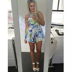 Shop vlogger Shan XO Mystic Playsuit now at www.tweetweetfashion.com.au
