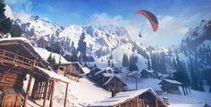 """Geh steil mit """"Steep"""" - Das Action-Sport-Spiel """"Steep"""" entführt dich in die Alpen, wo du Aktivitäten wie Skifahren, Wingsuit-Sprünge, Snowboarden und Paragliding-Flüge ausübst."""