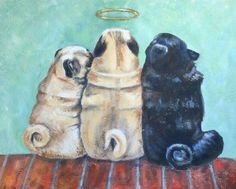 """Obtain excellent ideas on """"black pugs"""". They are offered for you on our web site. Black Pug Puppies, Dogs And Puppies, Beagle Puppies, Doggies, Animals And Pets, Cute Animals, Cute Pugs, Funny Pugs, Adorable Dogs"""