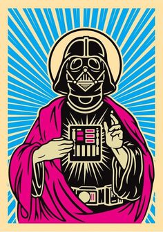 'Our Lord Darth Vader', Star Wars Art, illustration.