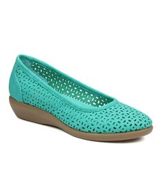 Look at this G.H. Bass & Co. Green Broadway Leather Flat on #zulily today!