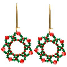 Tutorial - How to: Festive Holiday Flower Earrings | Beadaholique