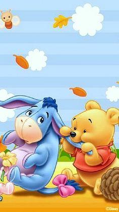 Winnie-the-Pooh & Eeyore Pooh Baby, Tigger And Pooh, Winne The Pooh, Cute Winnie The Pooh, Winnie The Pooh Quotes, Winnie The Pooh Friends, Baby Disney Characters, Disney Pixar, Disney Fun