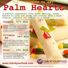 The health benefits of palm hearts - Check Your Food