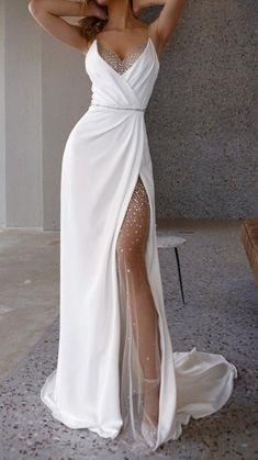 Dresses Short, Sexy Dresses, Elegant Dresses, Pretty Dresses, Beautiful Dresses, White Long Dresses, Gala Dresses, White Gowns, Formal Dresses