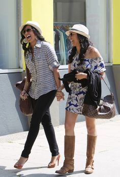 mowry sisters lunch 2 020410 love their easy-going style =)