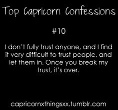 It's sad because I gave my trust in the beginning