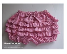 Made to order custom Lolita ruffle bloomers Full by Unbirthday4me, $44.00